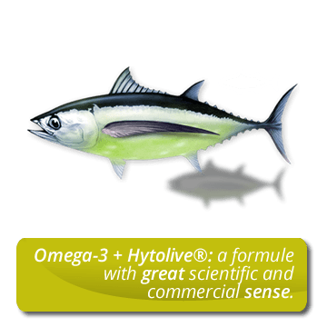 Omega-3 + Hytolive<sup>&reg;</sup>: a formule with great scientific and commercial sense.
